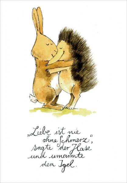 """Postkarte """"Liebe ist nie ohne Schmerz"""""""