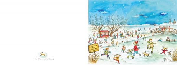 """Weihnachtskarte """"Winter am Steinhuder Meer_03"""""""