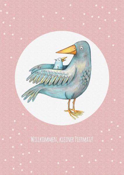 "Postkarte ""Vogel 1"" (Rückseite weiss)"