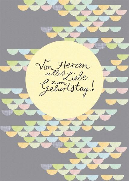 """Postkarte """"Von Herzen"""" - Vorderseite"""
