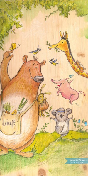 """Poster """"Wilde Tiere"""", Sondergröße 29,7 cm x 59,9 cm"""