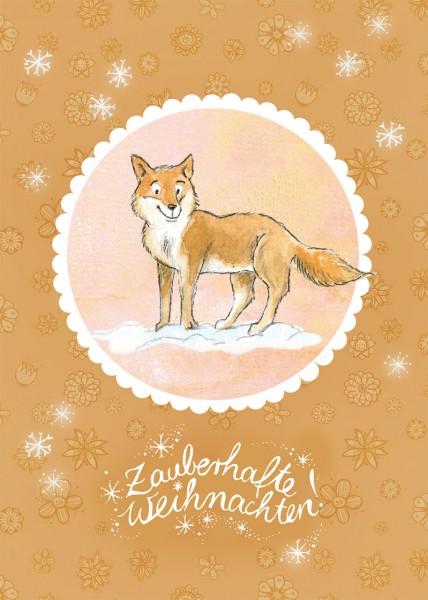 "Postkarte ""Waldtierweihnachtsgrüße – Fuchs"""