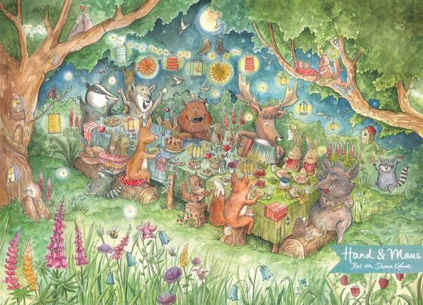 """Poster DIN A3 """"Das Sommerfest der Tiere"""""""