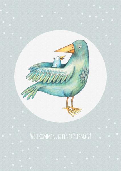 "Postkarte ""Vogel 2"" (Rückseite weiss)"