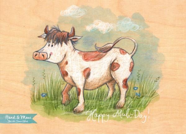 "Postkarte ""Kuh"" - Vorderseite"